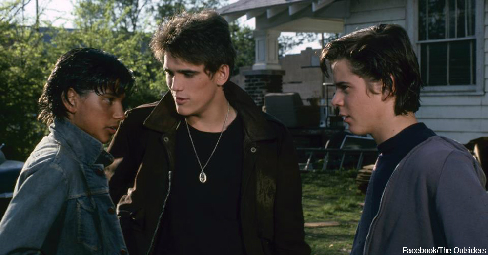 From the film adaptation of The Outsiders / Via The Outsiders Facebook