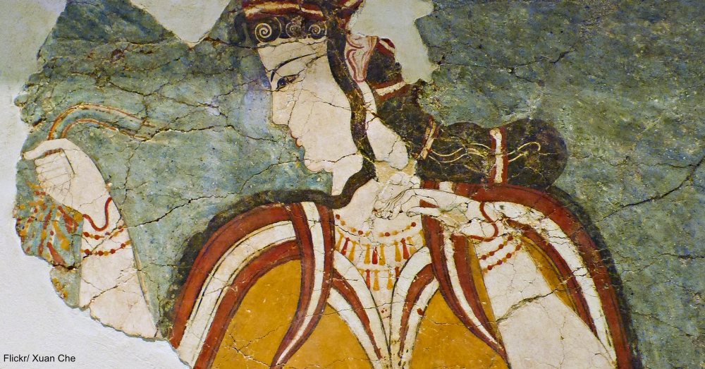 ancient Mycean Mural Fragment
