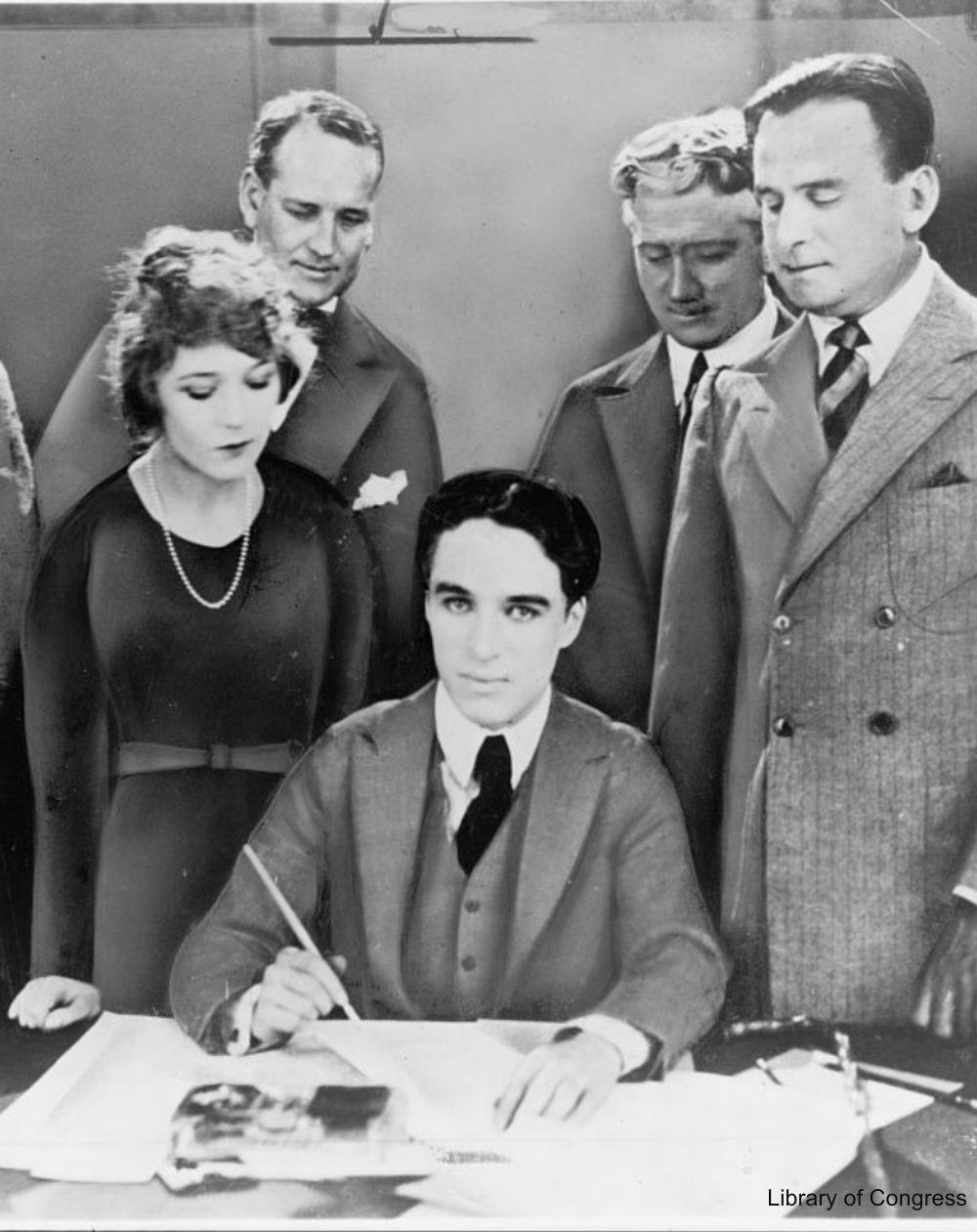 Charlie Chaplin Signs a Contract