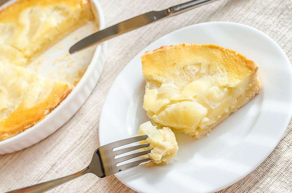 Tropical Pineapple Cheesecake Tart – 12 Tomatoes