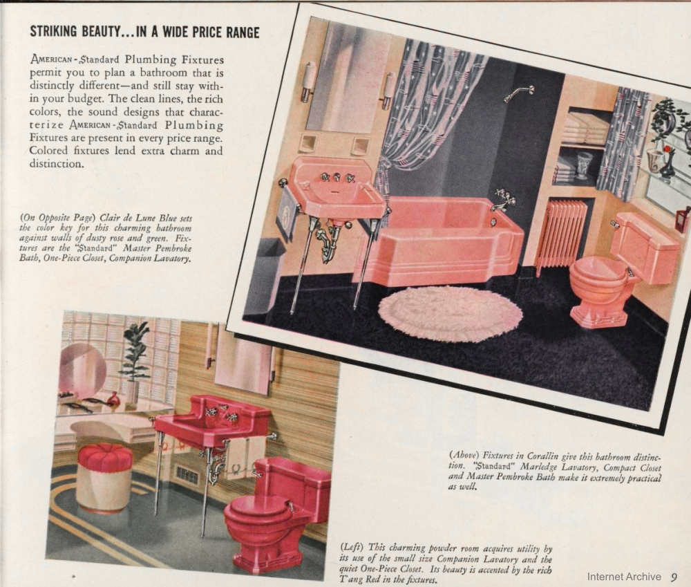 Vintage Bathroom Fixture Catalog