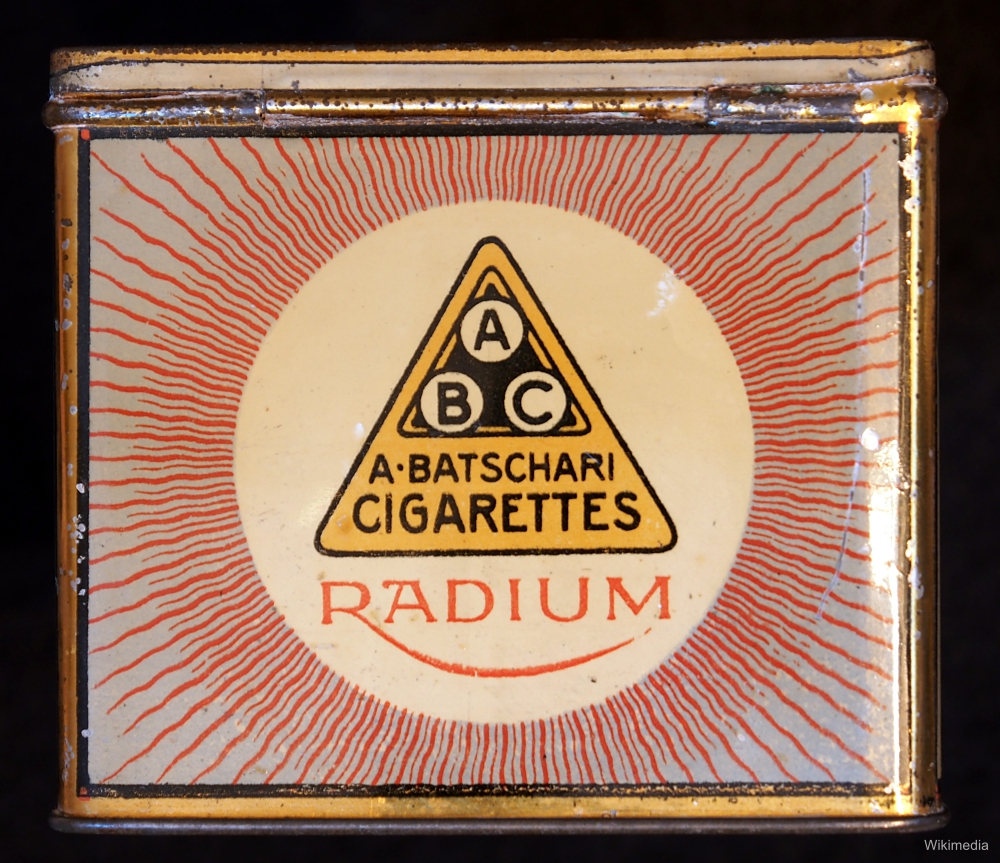 German Radium Cigarette Package