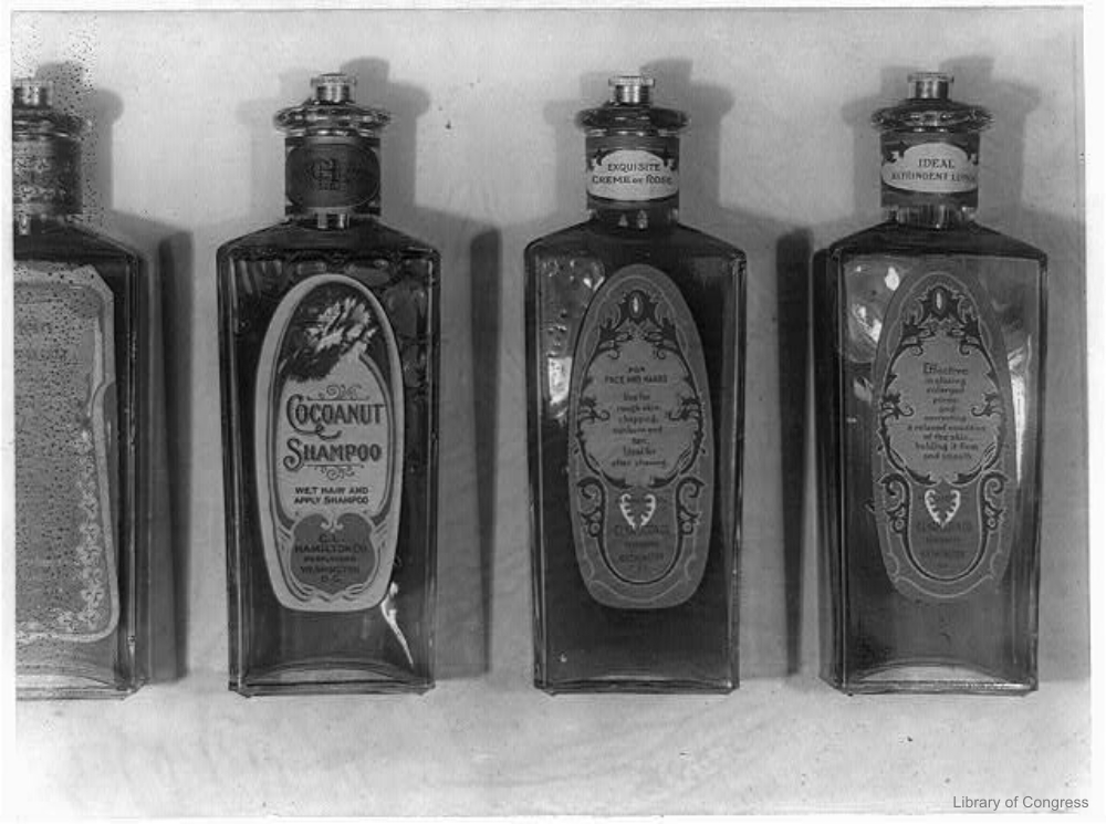 Glass Shampoo Bottles