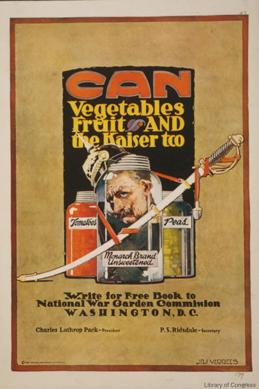 Can the Kaiser Vintage Food Avertisement