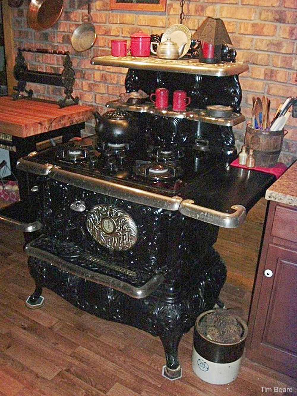 Black Enamel Iron Cook Stove