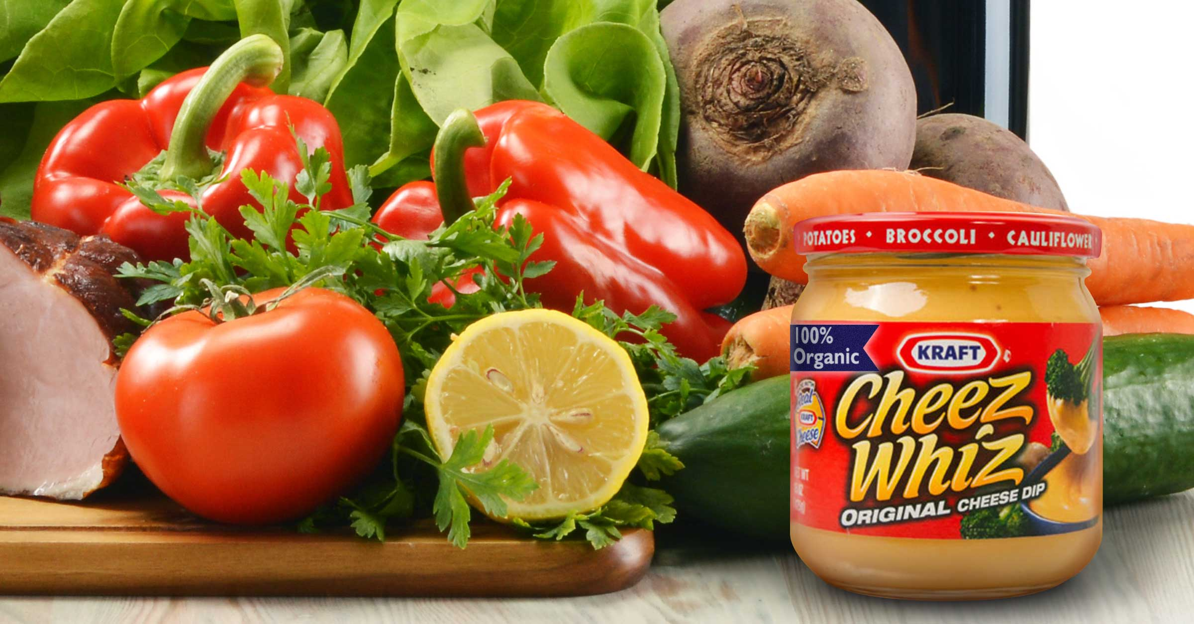 Kraft Cheez Whiz Goes 100 Organic 12 Tomatoes