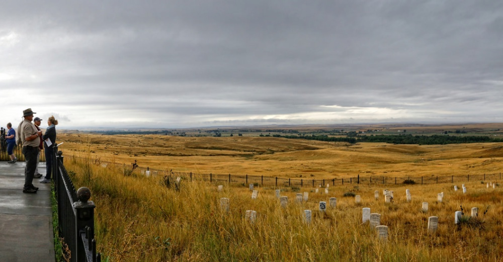 The site of the Battle Of Little Big Horn, also known as Custer`s Last Stand / Via Robert Montgomery