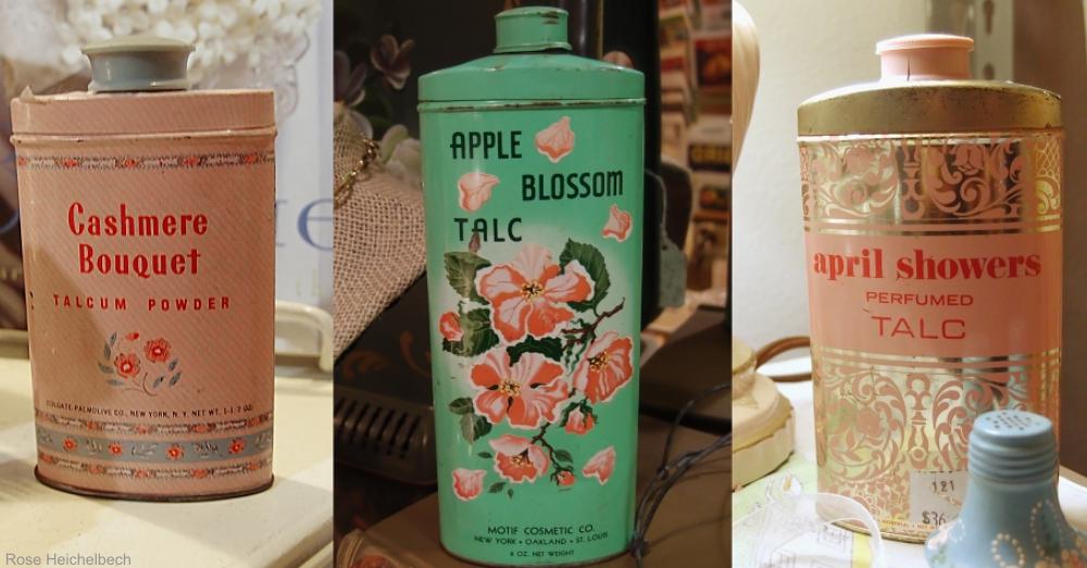 Vintage Talcum Powder Tins