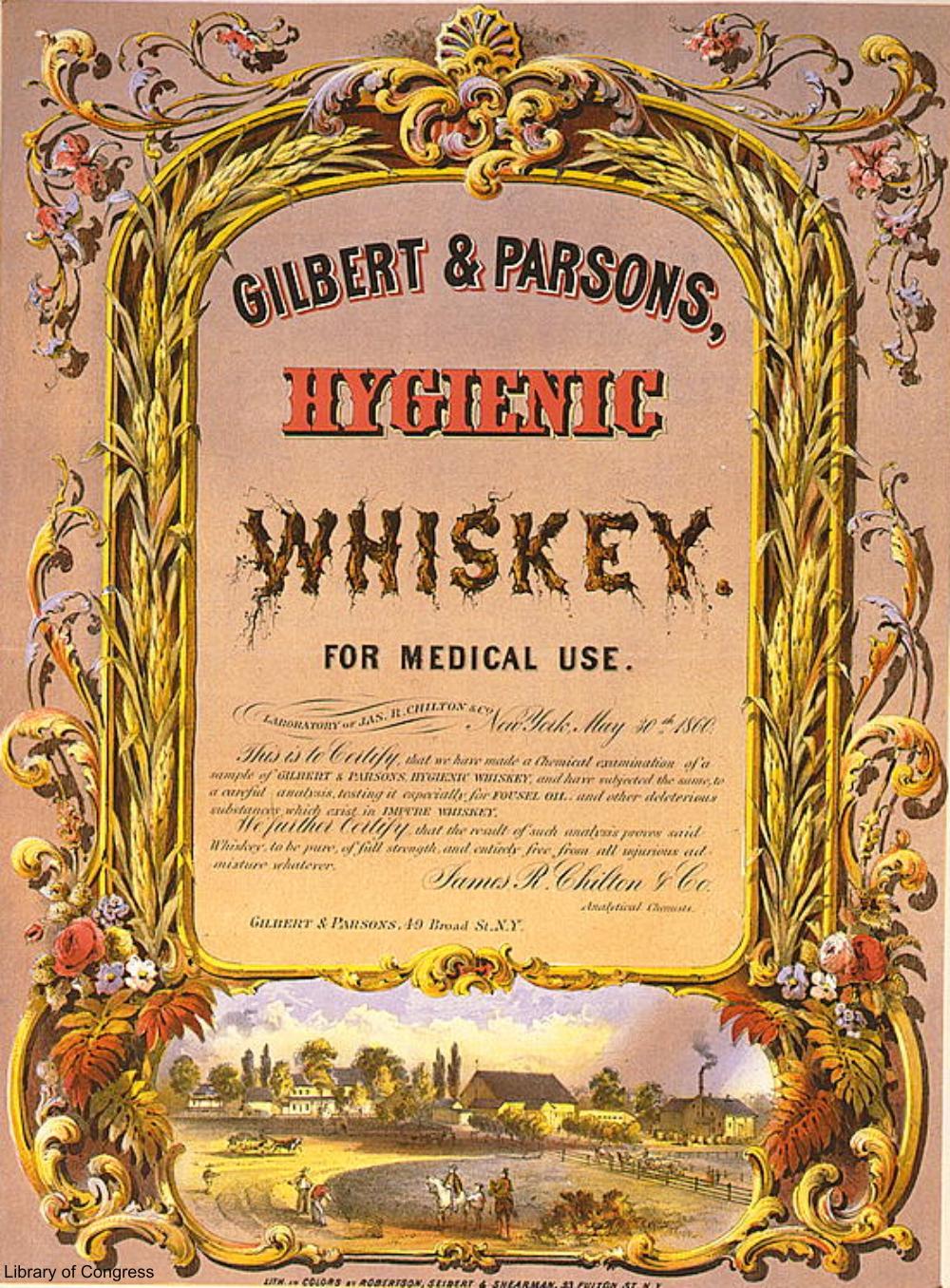1860 Medicinal Whiskey Advertisement