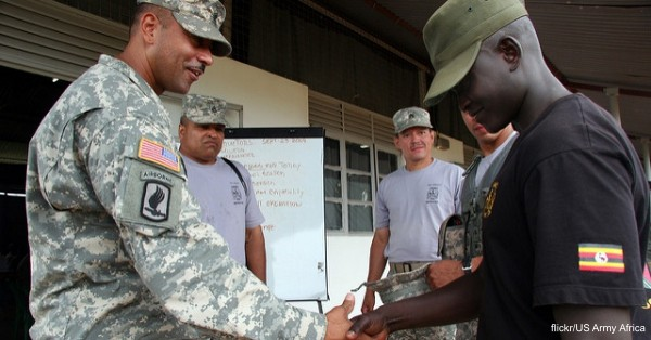The Borinqueneer Soldiers from the 1/65th Puerto Rico National Guard deployed in 2009 to support efforts in Uganda.