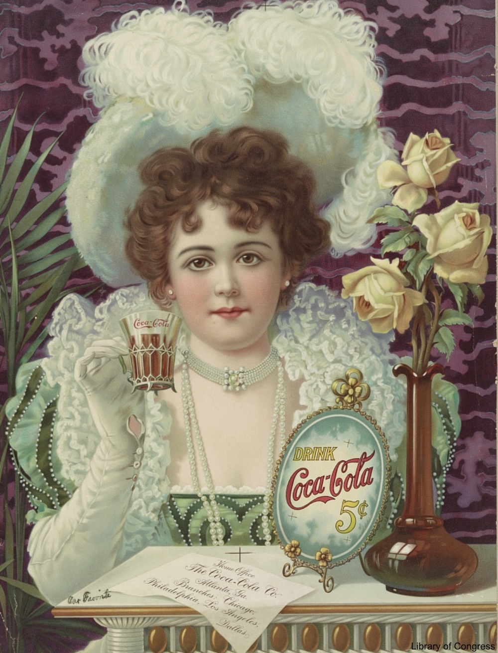 Late 1800s Coca Cola Advertisement