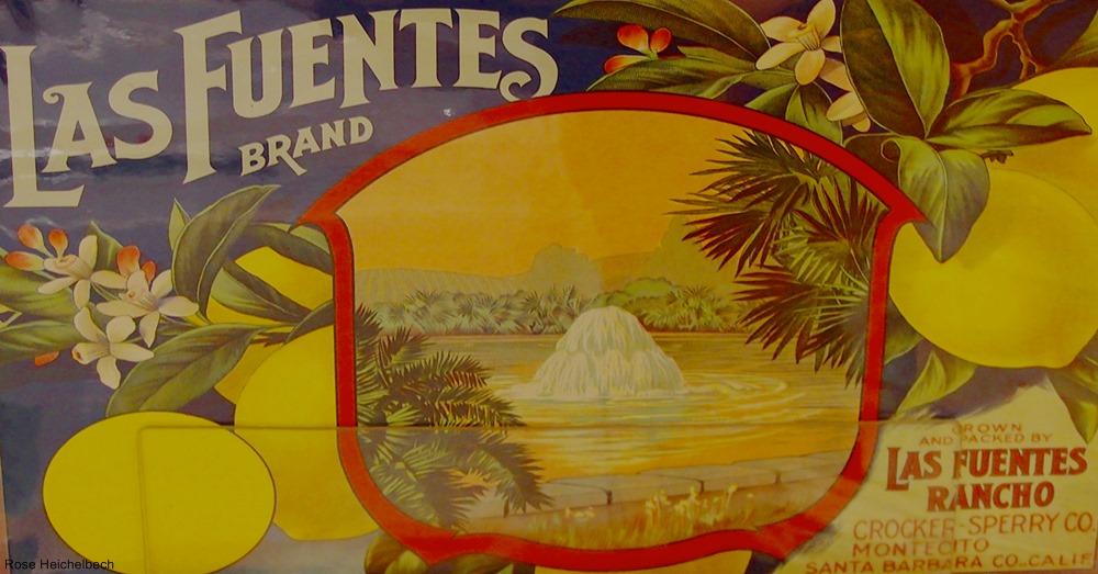 Vintage Lemon Fruit Crate Label
