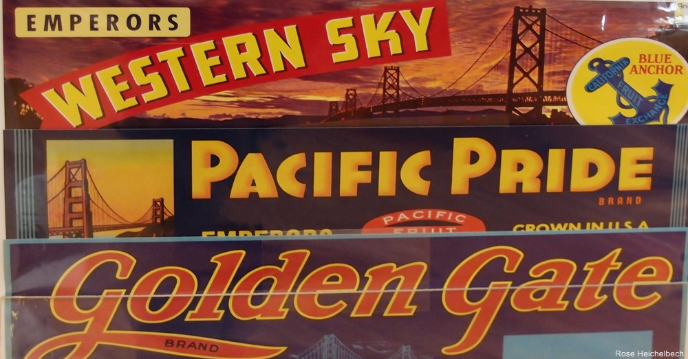 Vintage California Fruit Crate Labels