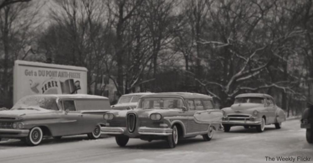 Vintage Cars on Highway