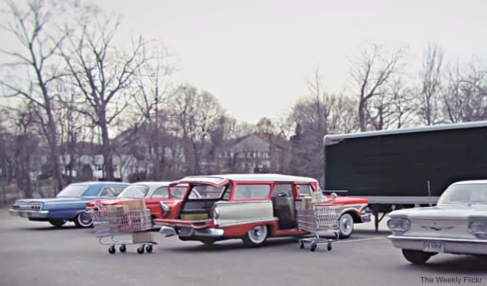 Vintage Station Wagon at the Grocery
