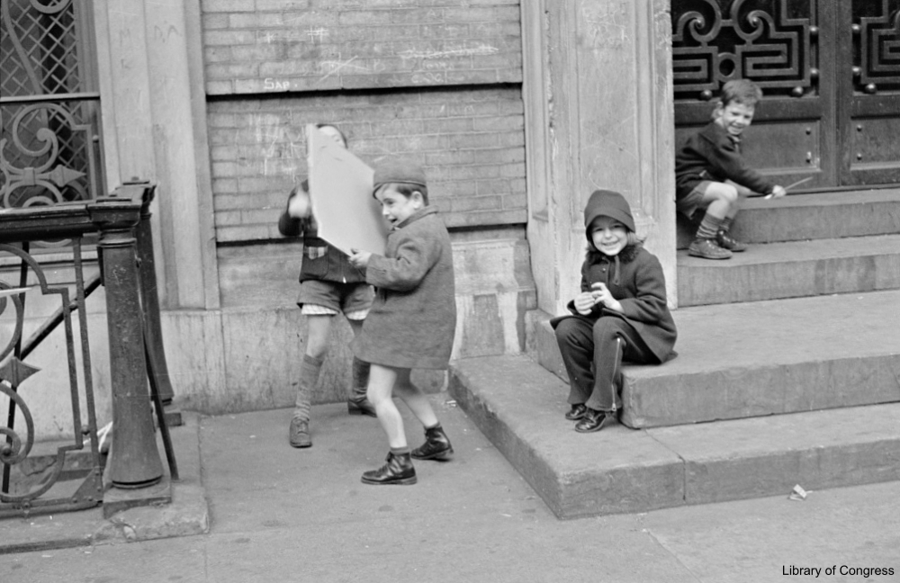 Kids Playing Outside a Building