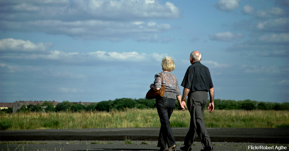 Older Couple Going For a Walk