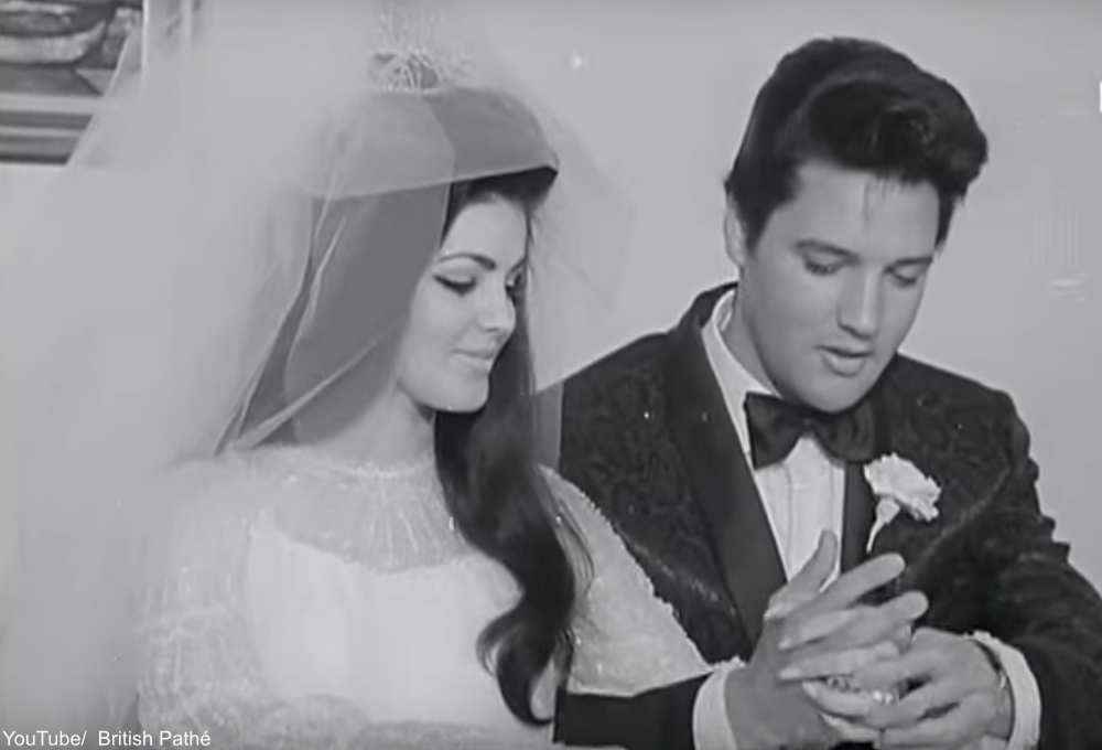 Prescilla Beaulieu and Elvis Presley Wedding
