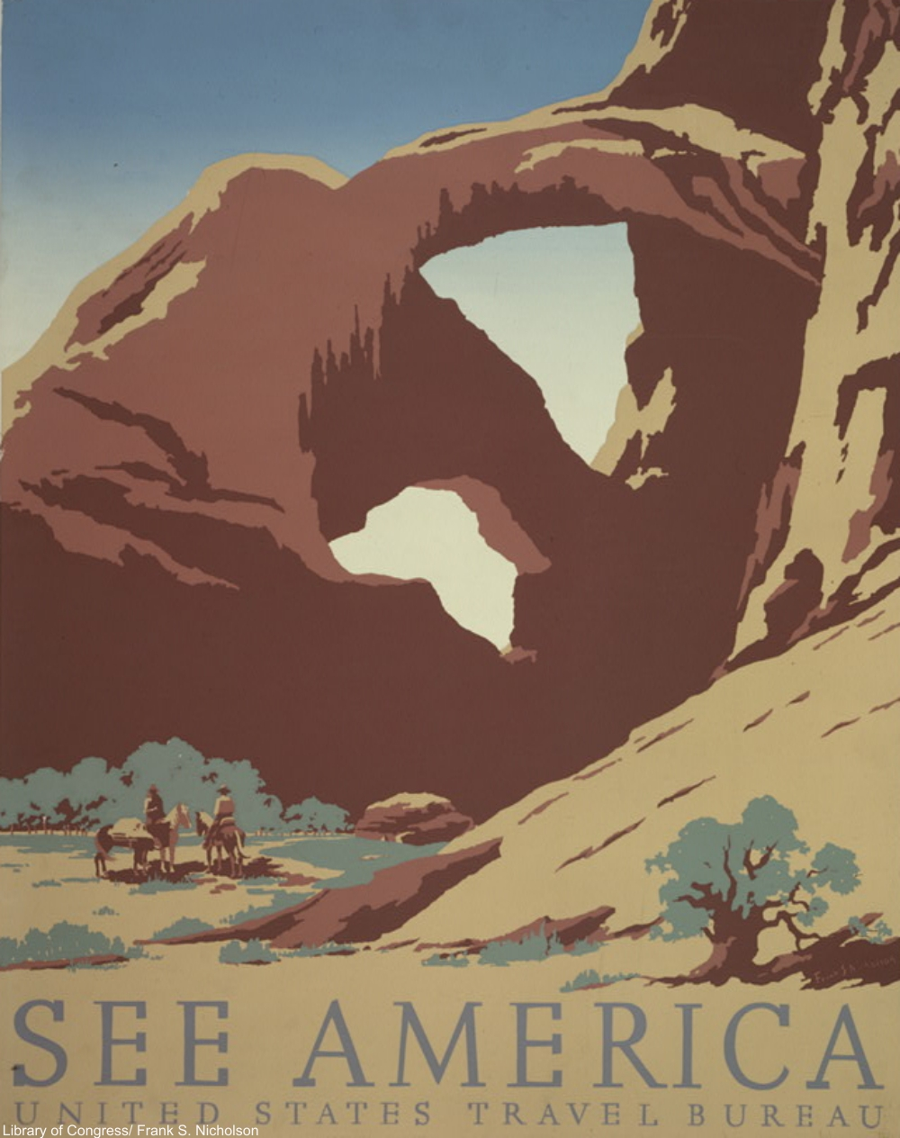 WPA See America Poster by Frank Nicholson