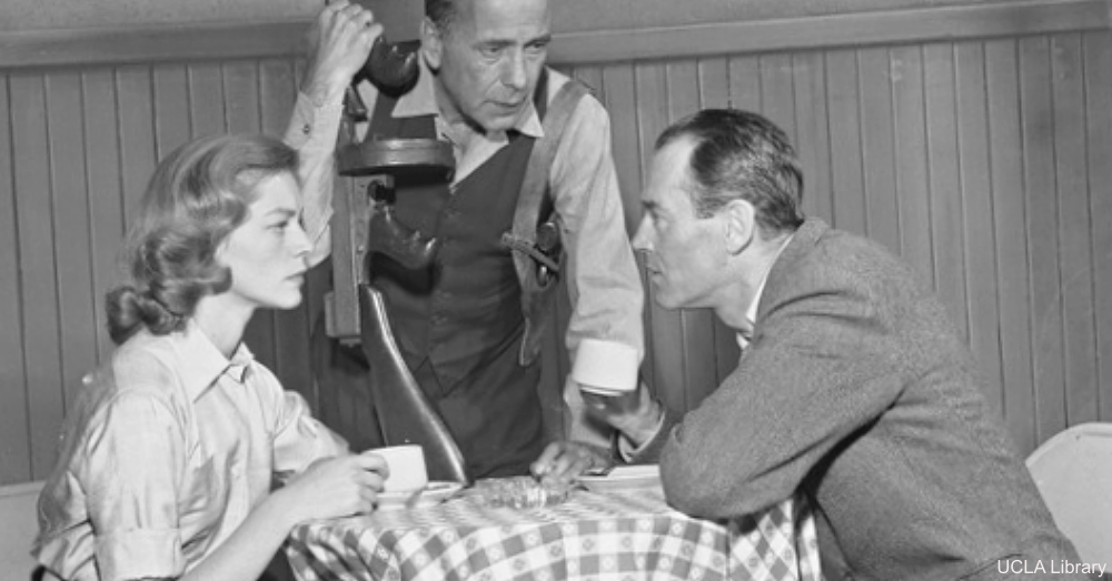 Henry Fonda with Humphrey Bogart and Lauren Bacall