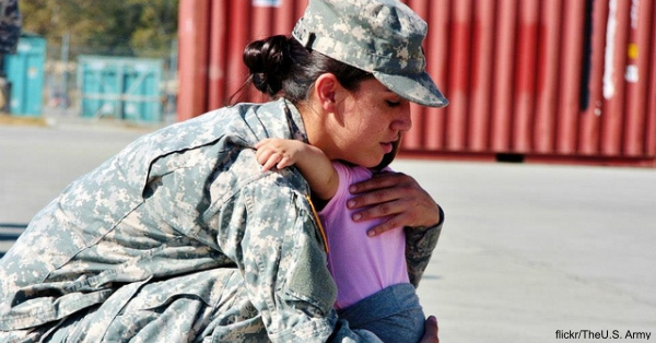 single parent in the army