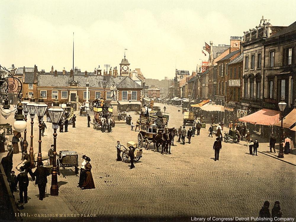Market place, England, Photochrom