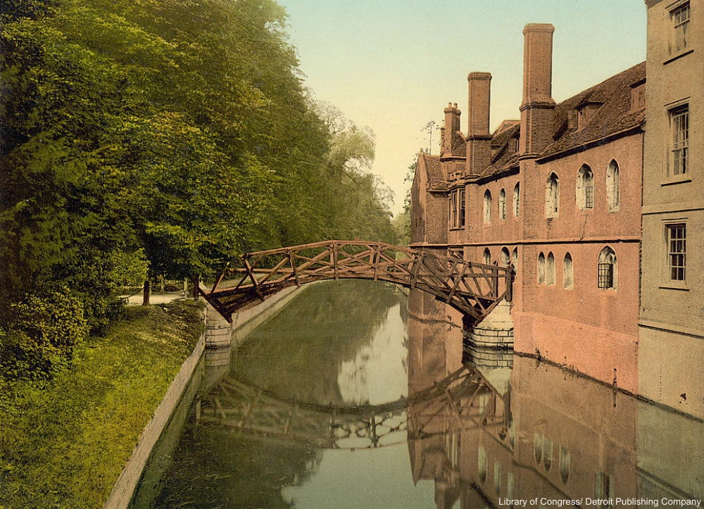 Queen's College Bridge Photochrom