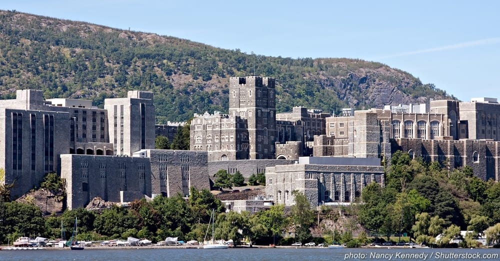 The renowned United States Military Academy at West Point (USMA) is located in Orange County, New York.