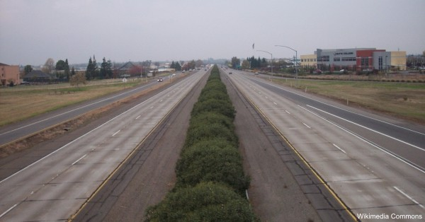 Highway 99 runs the length of California's Central Valley.