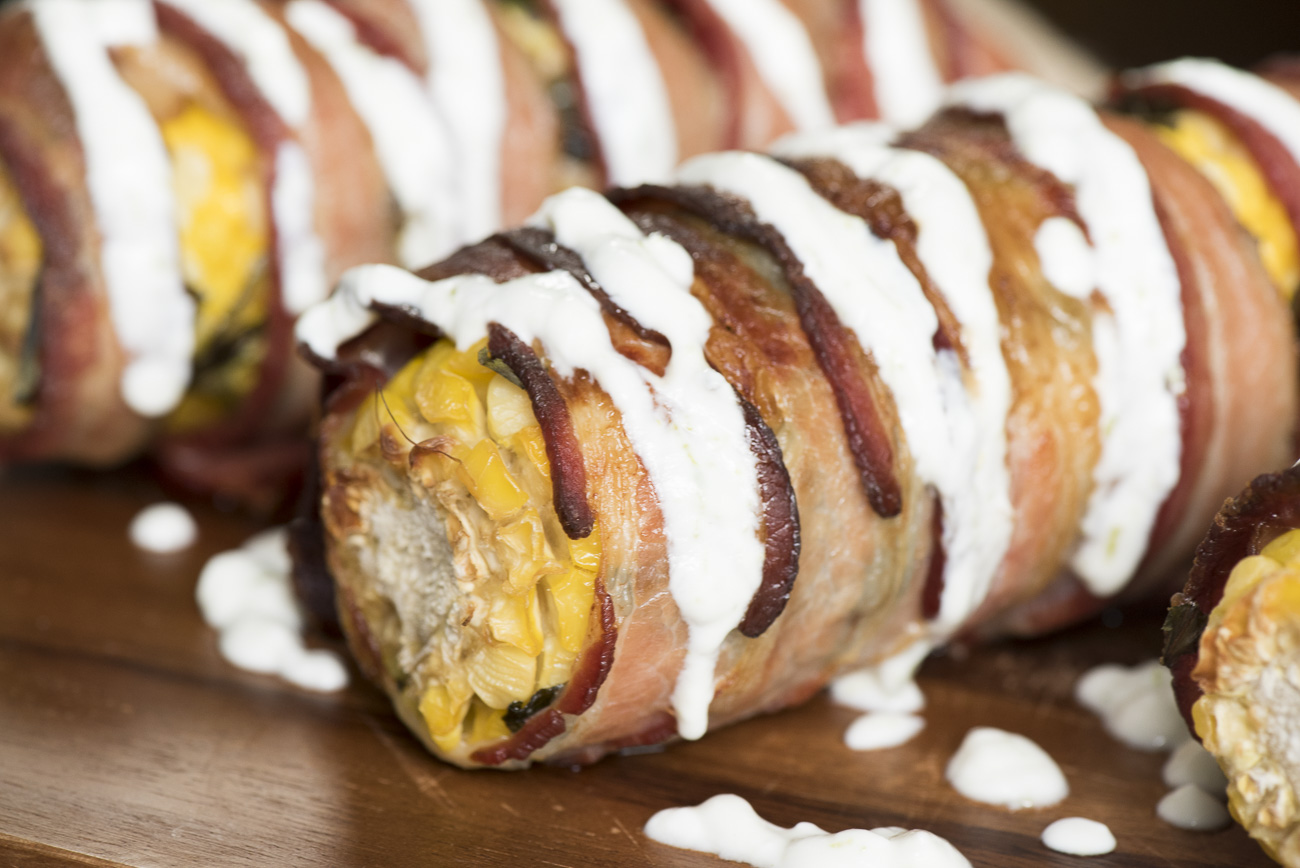 Bacon-Wrapped Corn on the Cob – 12 Tomatoes