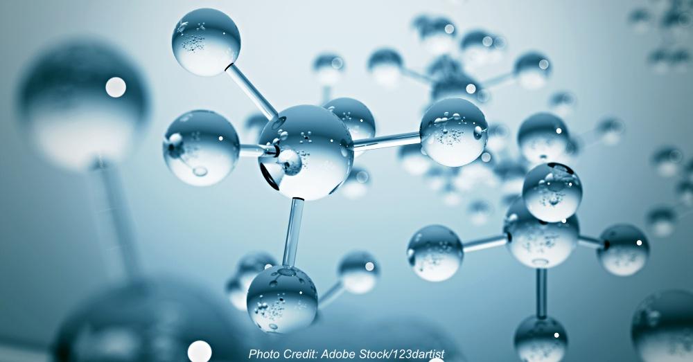 Blue molecule