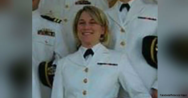 Rebecca Hayes is a veteran of the U.S. Navy.