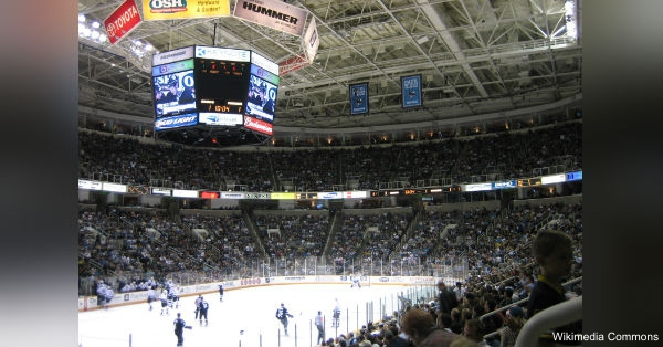 Game 4 of the Stanely Cup Finals took place in the SAP Arena in San Jose, Calif.