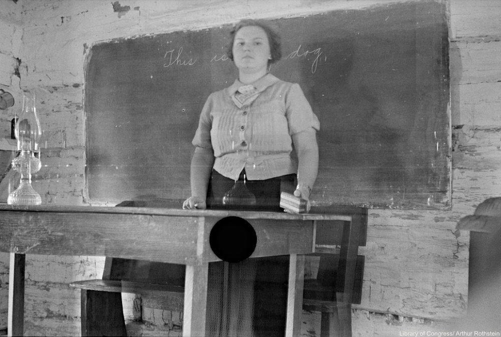 FSA rejected photo 1935 school teacher