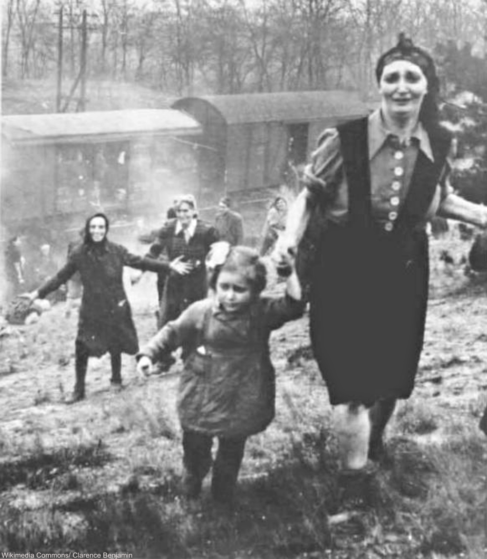 Rescued Prisoners from Belsen-Bergen Concentration Camp Emerging from Liberation Train