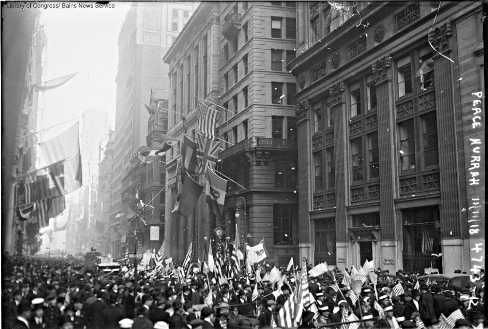 Armistice Day celebrations in New York City 1918
