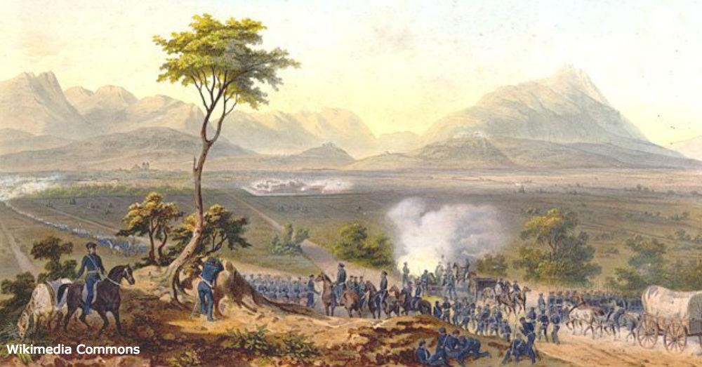 U.S. troops march on Monterrey.