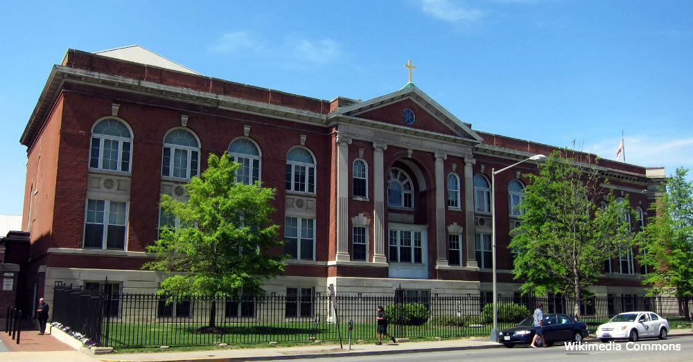 Gonzaga High School, where Capt. Versace was educated before joining the military.