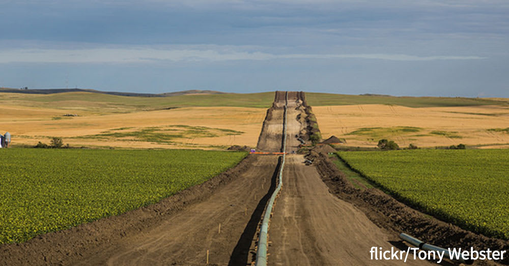 A segment of the Dakota Access Pipeline.