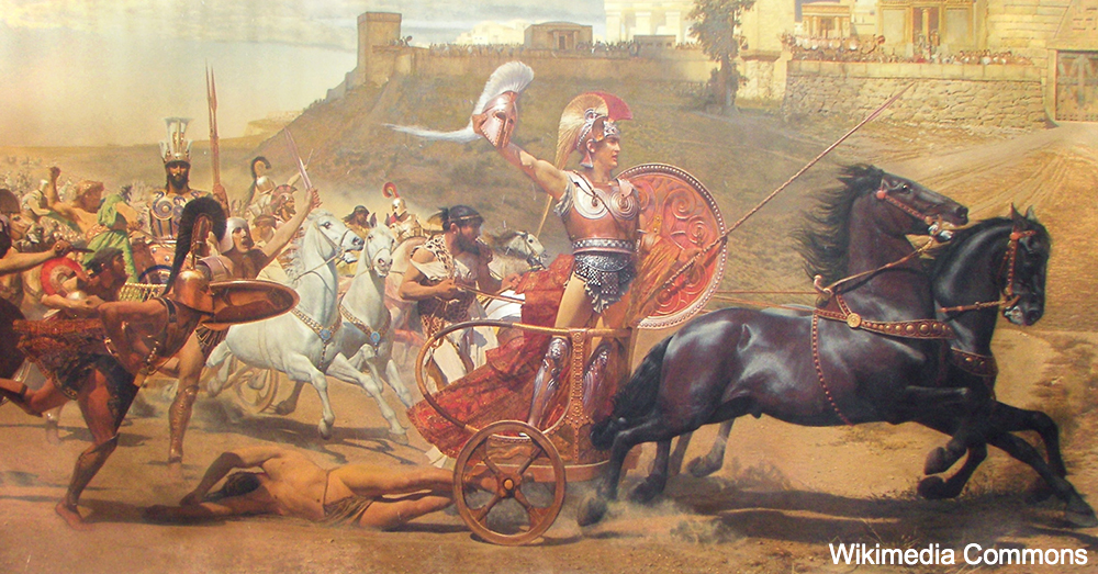 Triumphant Achilles in Achilleion