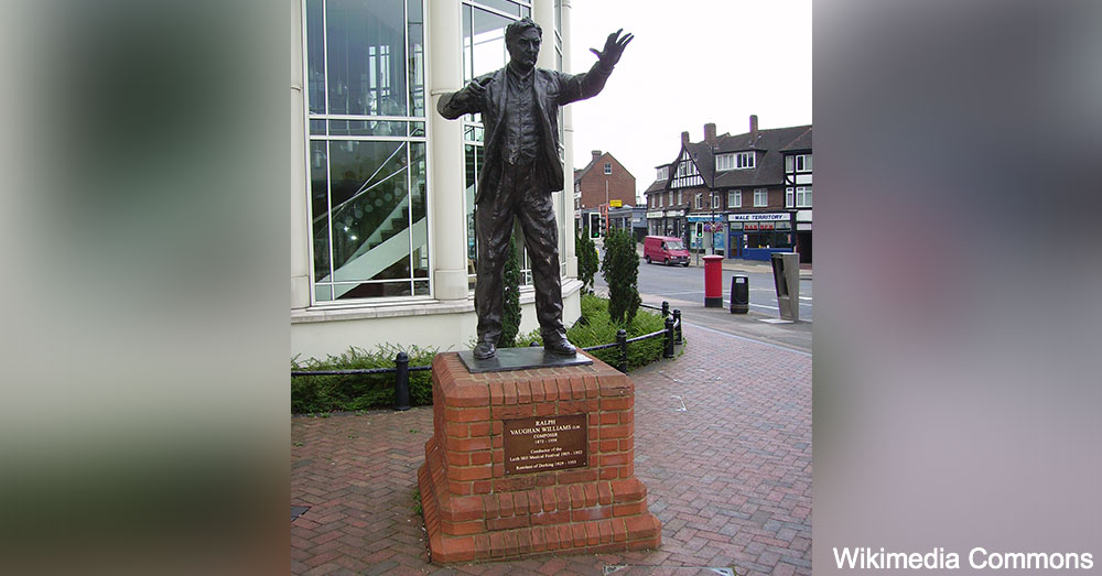 A statue of Ralph Vaughan Williams in England.