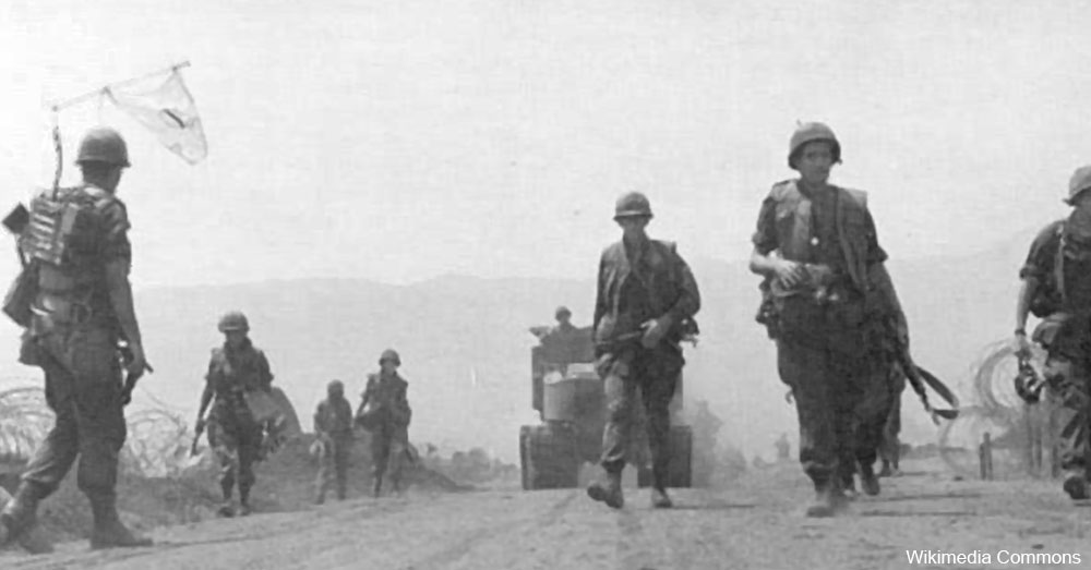 Soldiers at Khe Sahn, in Vietnam.
