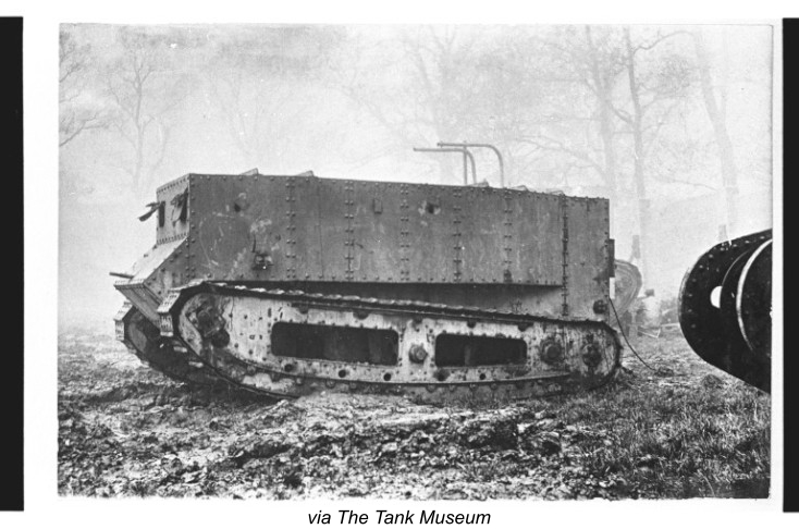 Pictured here is Little Willie, the first tank ever built.