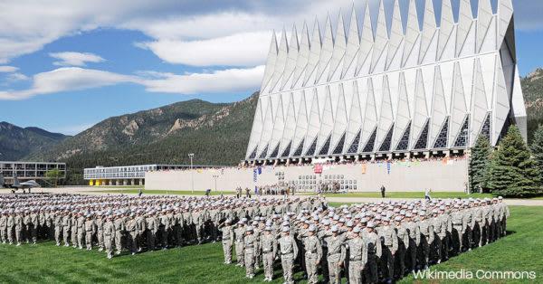The U.S. Air Force Academy.
