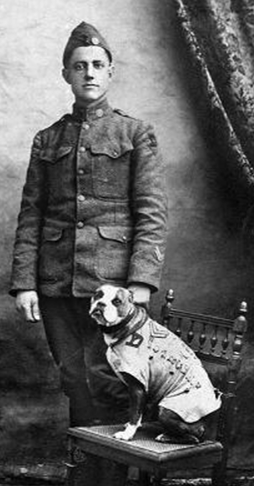 Photo: Smithsonian National Museum of America History -- Cpl. Conroy and Sgt. Stubby together.
