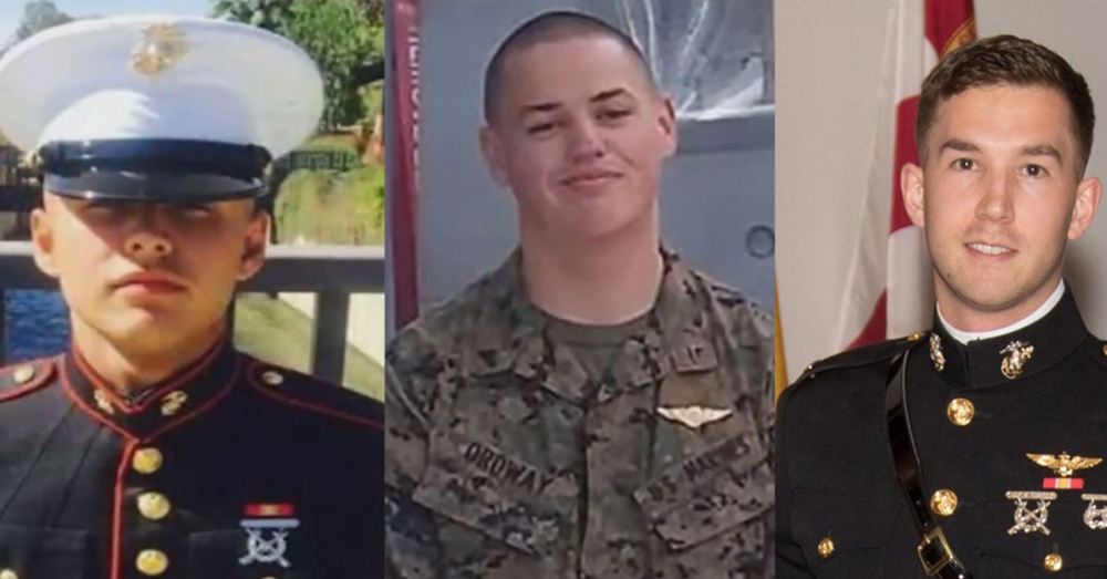 Photo: Stars & Stripes/U.S. Marine Corps -- Pfc. Ruben Velasco, Cpl. Nathaniel Ordway, and 1st Lt. Benjamin Cross (left to right) were identified as the Marines who died in a fatal Osprey crash.