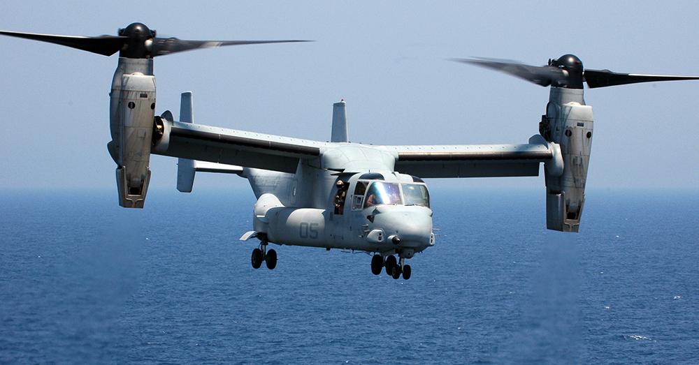 Photo: U.S. Navy/Mass Communication Specialist 1st Class Daniel A. Taylor -- An MV-22 Osprey crashed off the coast of Australia, killing three Marines.