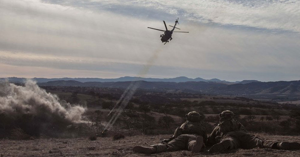 Source: Staff Sgt. Teddy Wade/US Army A MH-60 Black Hawk Helicopter from the 160th Special Operations Aviation Regiment provides Close Air Support during Army Ranger training.