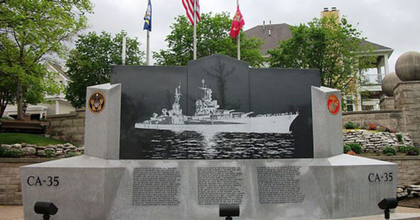 Source: Wikiemdia Commons A memorial to the USS Indianapolis.