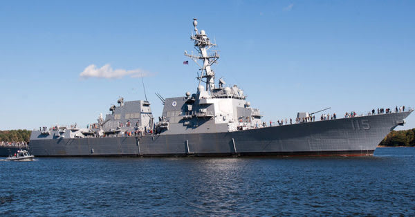 Source: U.S. Navy The USS Rafael Peralta (DDG 115)